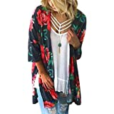 Utralbee Cardigan Loose Shirts Thin Open Stitch Loose Chiffon Blouse Shirt Blusa