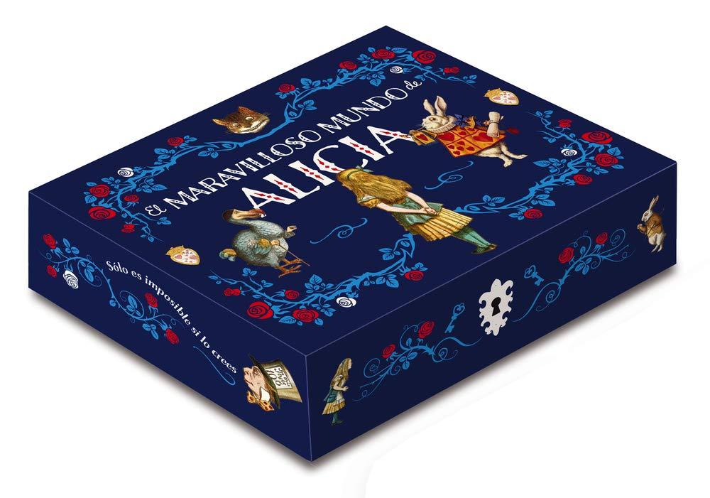 Caja maravilloso mundo de Alicia: Incluye: 2 libros, libreta, 5 postales y un imán Caja Clásicos Ilustrados: Amazon.es: Carroll, Lewis, Armiño, Mauro: Libros
