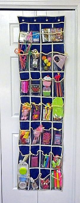 Over Door Pocket Organizer - For Bi-Fold Doors - Assorted Colors (24 vertical & Amazon.com: Over Door Pocket Organizer - For Bi-Fold Doors ... Pezcame.Com