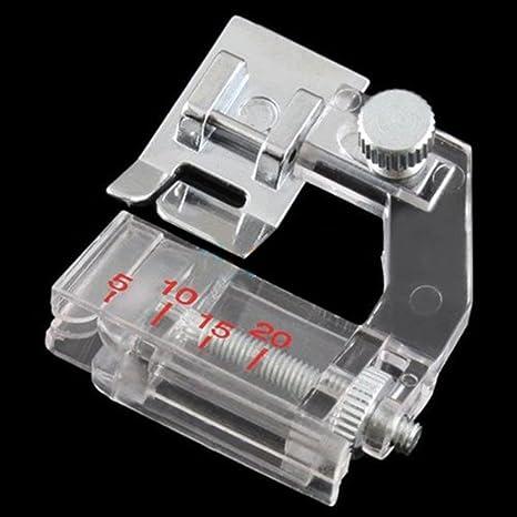Pie prensatelas para cinta al bies ajustable; prensatelas para máquinas de coser de