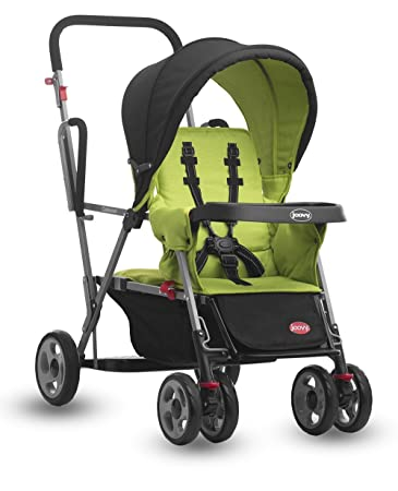 Amazon.com : Joovy Caboose Stand On Tandem Stroller, Appletree ...
