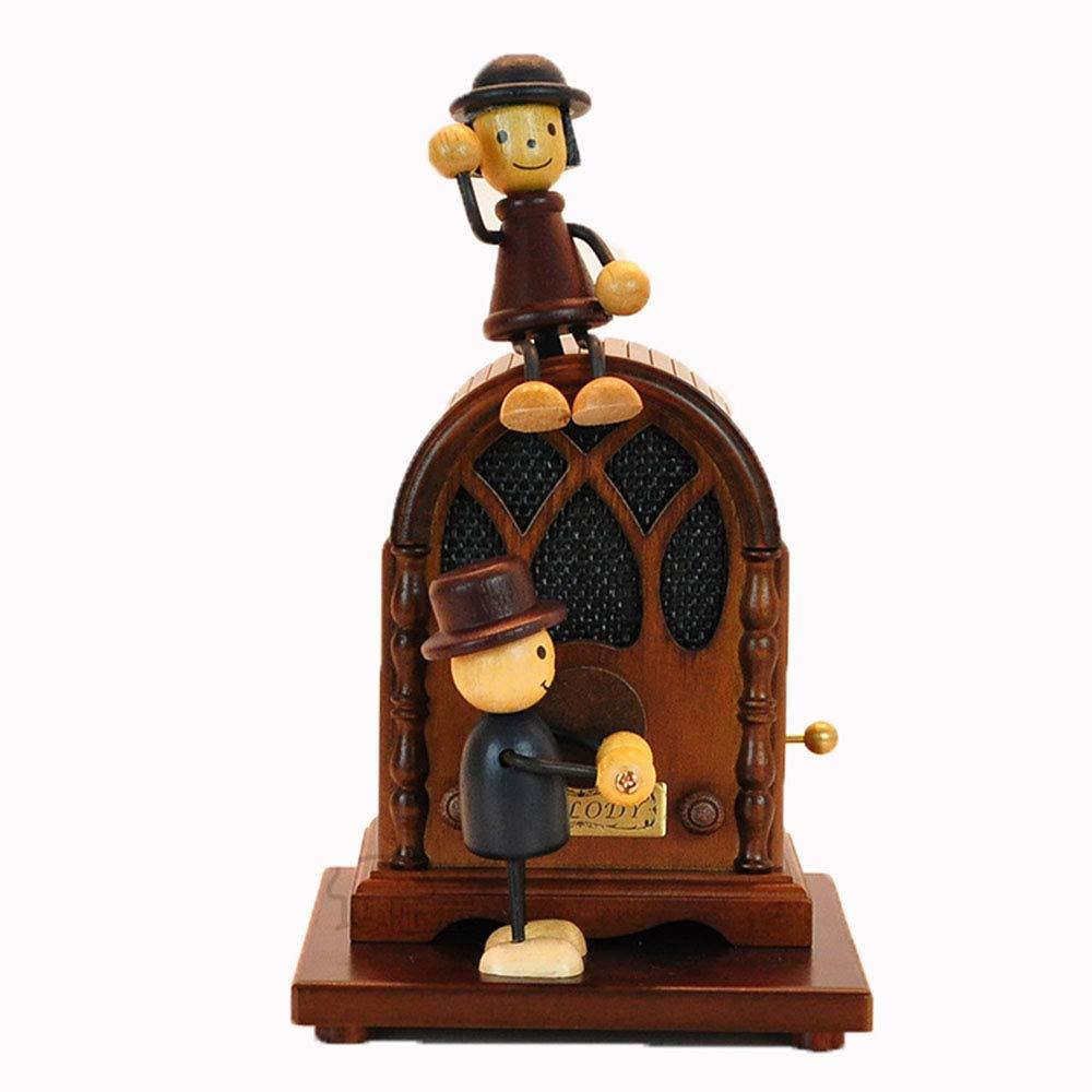 2019高い素材  創造的なバレンタインデーのギフトオルゴールの木製の彫刻されたメカニズム誕生日のためのミュージカルボックスのギフトを巻き起こす B07MKM7PBR, 城南区:0c5f0e0a --- arianechie.dominiotemporario.com