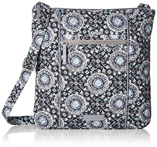 - Vera Bradley Iconic Hipster, Signature Cotton, Charcoal medallion