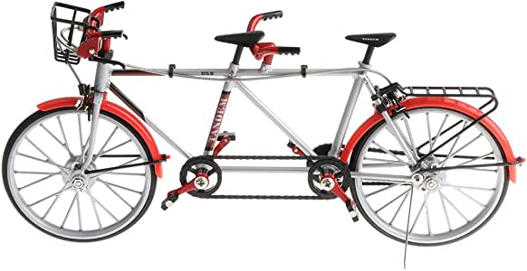 1:10 Juguete Infantil Modelo de Bicicleta Tándem de Imitación en ...