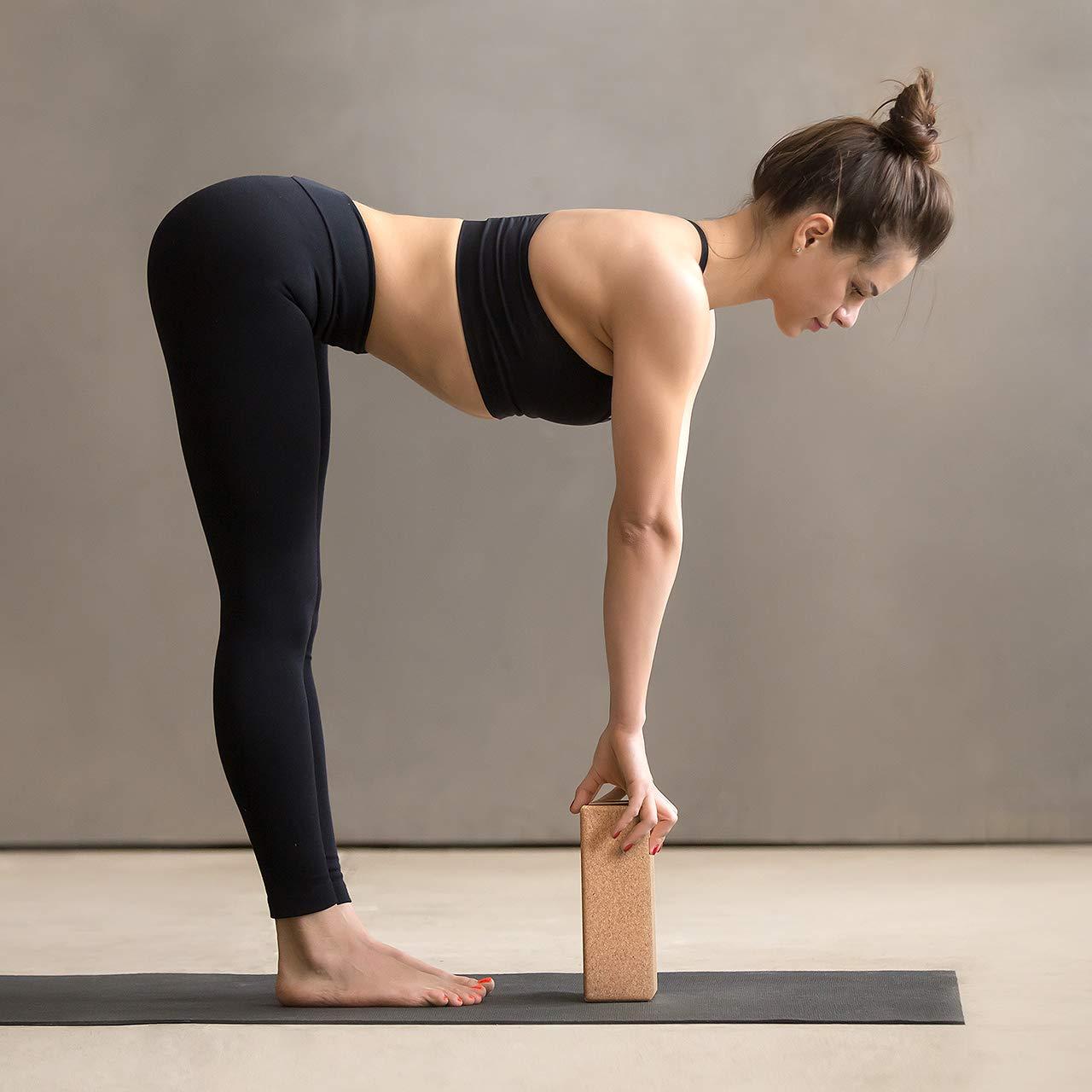 ZenYogaWedge - Bloque de Corcho para Yoga (100% Natural ...