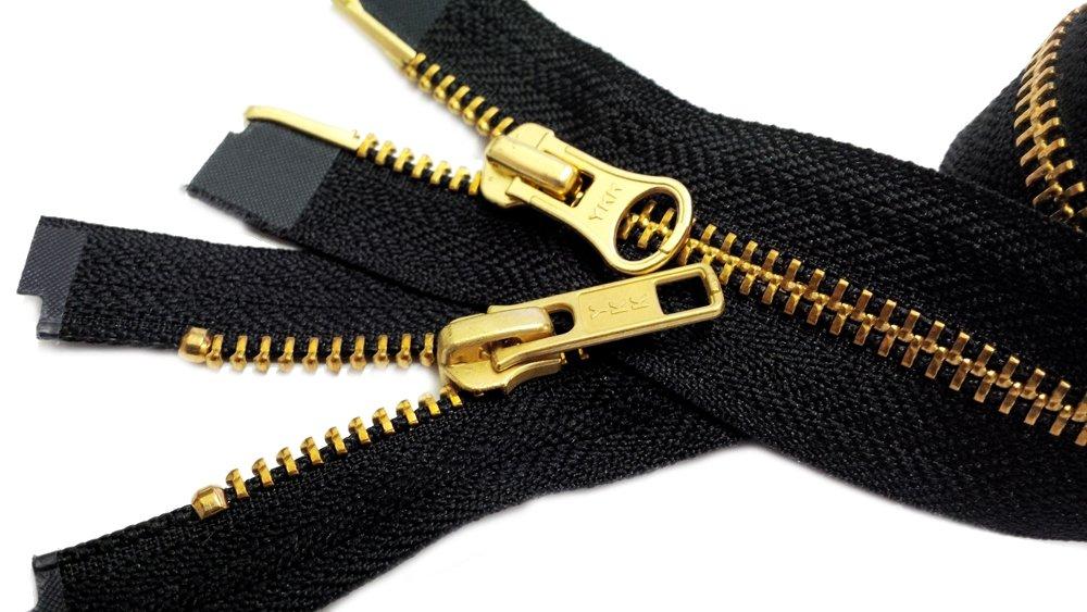 YKK Parka Zipper 36\ #5 (Special) Medium Weight - 2 Way Separating ~ Color Black (1 Zipper/pack) 77692