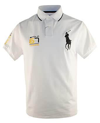 7fcdc81971e44 Polo Ralph Lauren Mens Short Sleeve Performance Mesh Polo Shirt White Size  XX-Large at Amazon Men s Clothing store