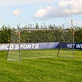 12 x 6 FORZA Steel42 Soccer Goal – [The Strongest Steel Goal Post & Net Package with Soccer Goal Target Training Sheet] (12 x 6 FORZA Steel42 Goal) For Sale
