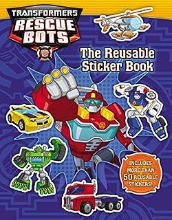 transformers rescue bots reusable sticker book - Rescue Bots Coloring Book