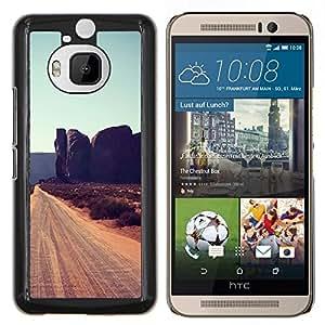 EJOOY---Cubierta de la caja de protección para la piel dura ** HTC One M9Plus M9+ M9 Plus ** --Rocas de Cliff Road Sandy Brown