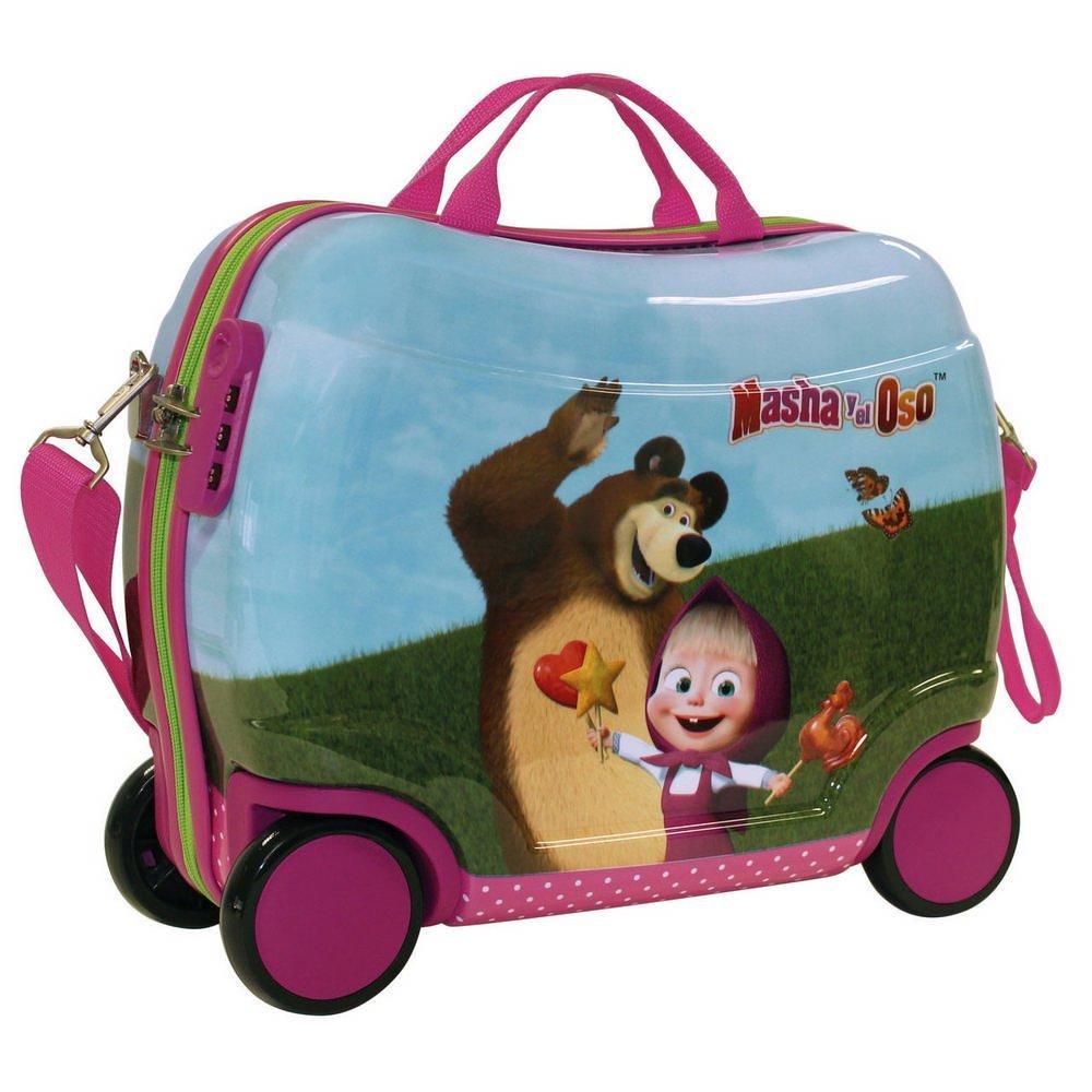 Masha Sitzkoffer und Der Bär Kindergepäck, 60 Liter, Rosa