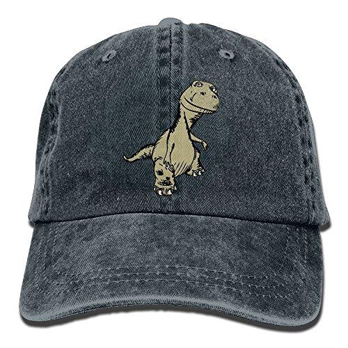 Dinosaur Adjustable Adult Cowboy Cotton Denim Hat Sunscreen Fishing Outdoors Retro Visor Cap (Dinosaur Train Halloween Songs)