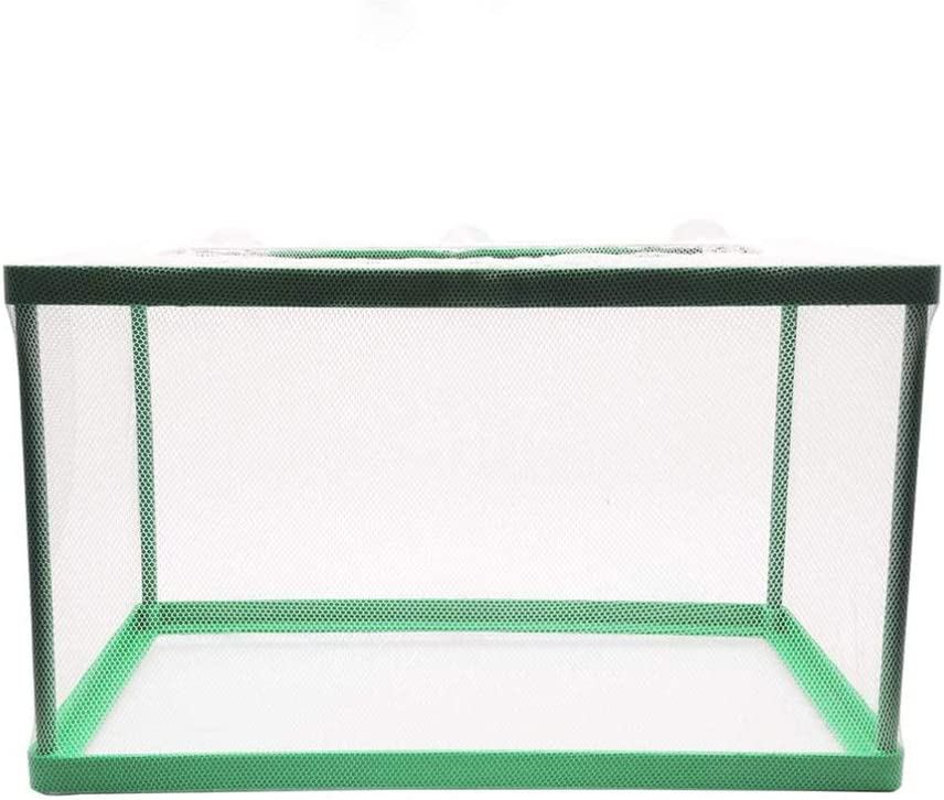 POPETPOP Breeder Box for Fish Tank 26.5x15x15cm Aquarium Breeder Net Fish Isolation Box Water Isolation Net Hatchery Hatching Box,Fish Spawning Incubator