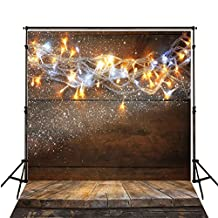 10x10 Photography Background Dark Wood Floor Newborn Photography Backdrop and Lighting Kit Baby Shower Backdrops