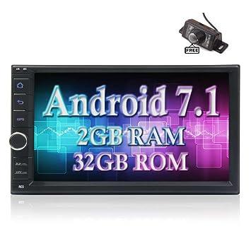 Mejor radio de coche - Android 7.1 Octa Core 2 GB 32 GB Doble Din GPS