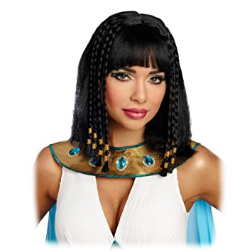Premium Bodywear AG Peluca de Mujer Cleopatra Carnaval Negro Trenzado Trenzado antigüedad egipcia