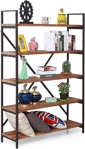 Care Royal Vintage 5 Tier Open Back Storage Bookshelf Review