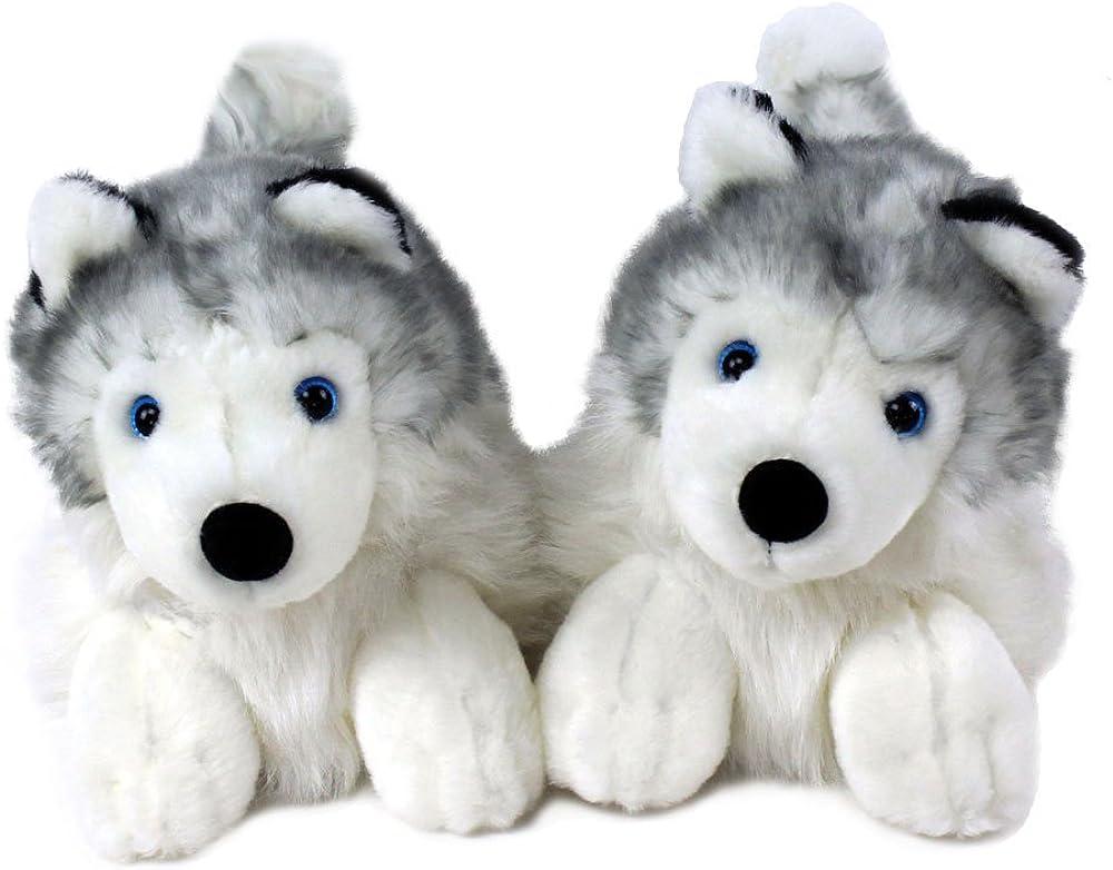 Amazon.com | Husky Slippers - Plush Dog