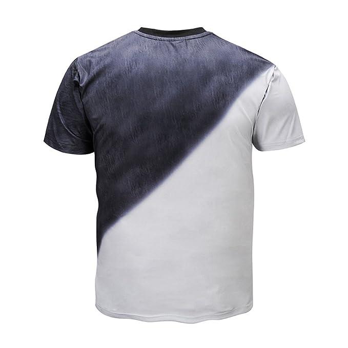... Hombre Oferta Verano Baratas Polos Casual Camisas de Running Personalidad Hombres 3D Impresión Doble Gato Casual Camisa: Amazon.es: Ropa y accesorios
