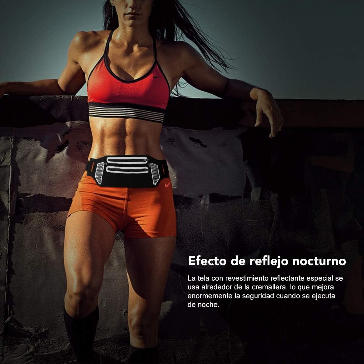 Ri/ñonera Running Mujer Hombre Impermeable con Bandas Reflectantes VILIMO Ri/ñonera Deportiva