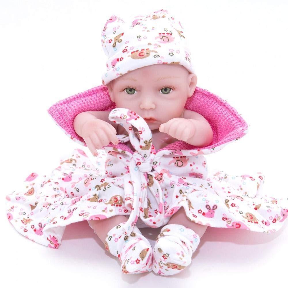 Hongge Reborn Baby Doll,Lebensechte Baby kann voll Gel Gel Gel Silikon Puppe lebensecht Neugeborenen Puppe Baden 28cm b49934