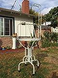 67'' Elegant Design Metal Pan & Long Neck Ladder Toy Hook Parrot Bird Stand