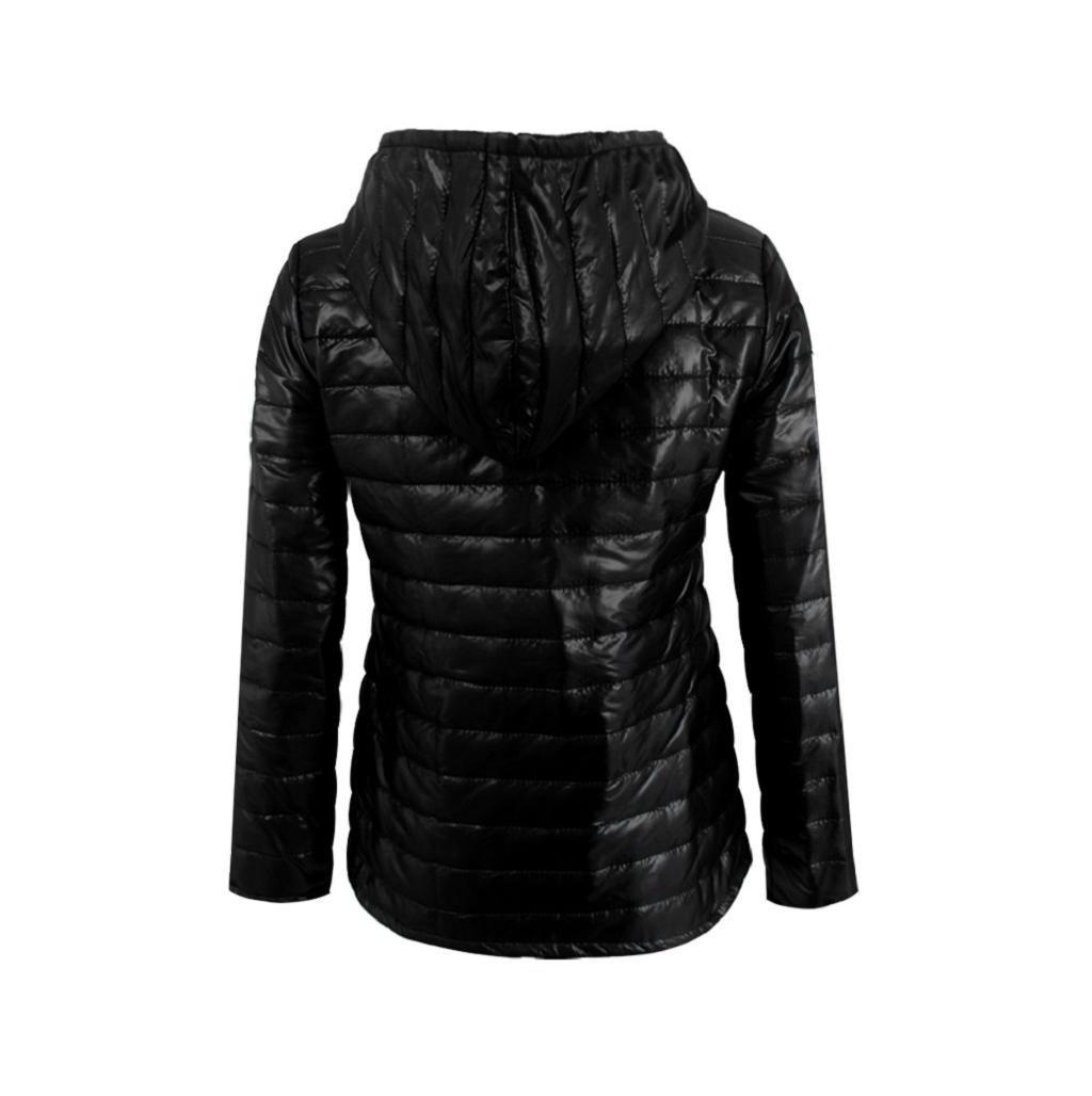 Sannysis chaquetas de mujer abrigo de invierno con capucha
