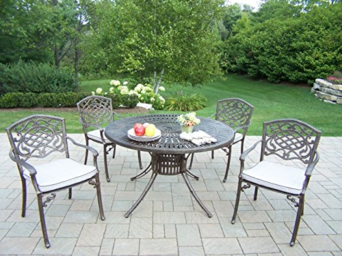 - Sunray Patio 5-Piece Dining Set with Fully Welded Chairs and Cushions