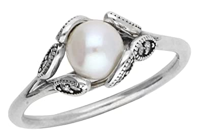 0ed7c85a0 PANDORA Luminous Leaves Freshwater Cultured Pearl Ring 190967P, Different  Sizes Available (5 / 50