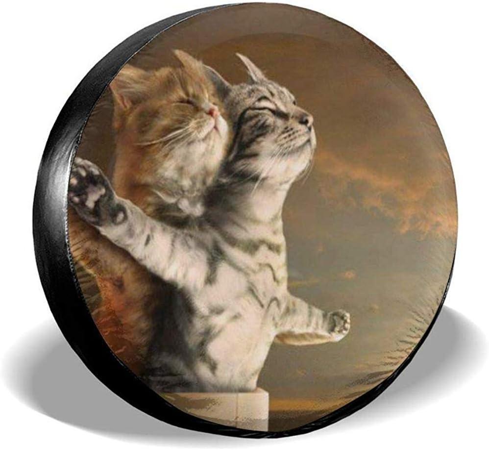 Titanic Cat Print Reserveradabdeckung wasserdichte Staubdichte Universalreifenabdeckungen LKW Und Viele Fahrzeuge14//15//16//17in Y.Z.L Wohnmobil Gel/ändewagen Anh/änger