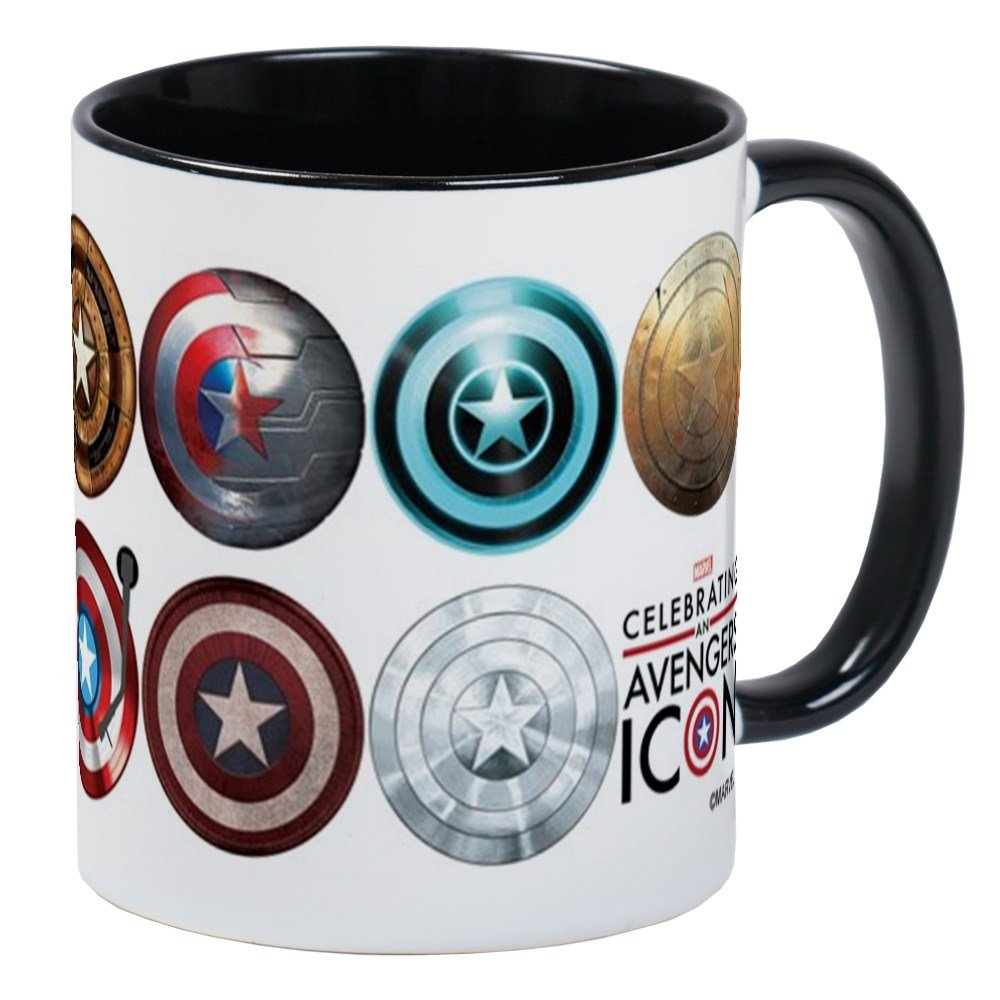 CafePress - Captain America 75Th Anniversary Twelve Mug - Unique Coffee Mug, Coffee Cup