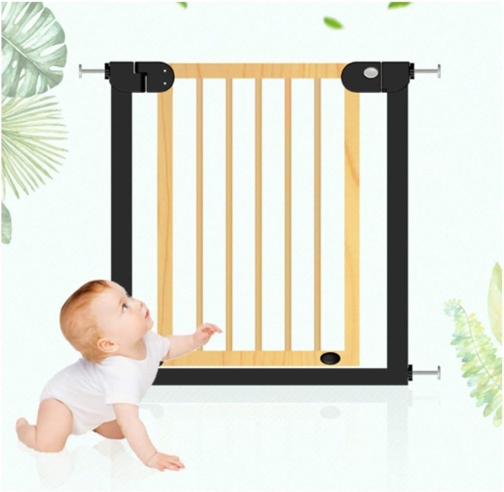 YONGYONG-Guardrail N Tipo Puerta de la Escalera Cerca del bebé baranda de la Escalera Puerta de Seguridad para niños Barra de Madera Maciza Cerca de la Cocina Cerca de la Mascota Puerta