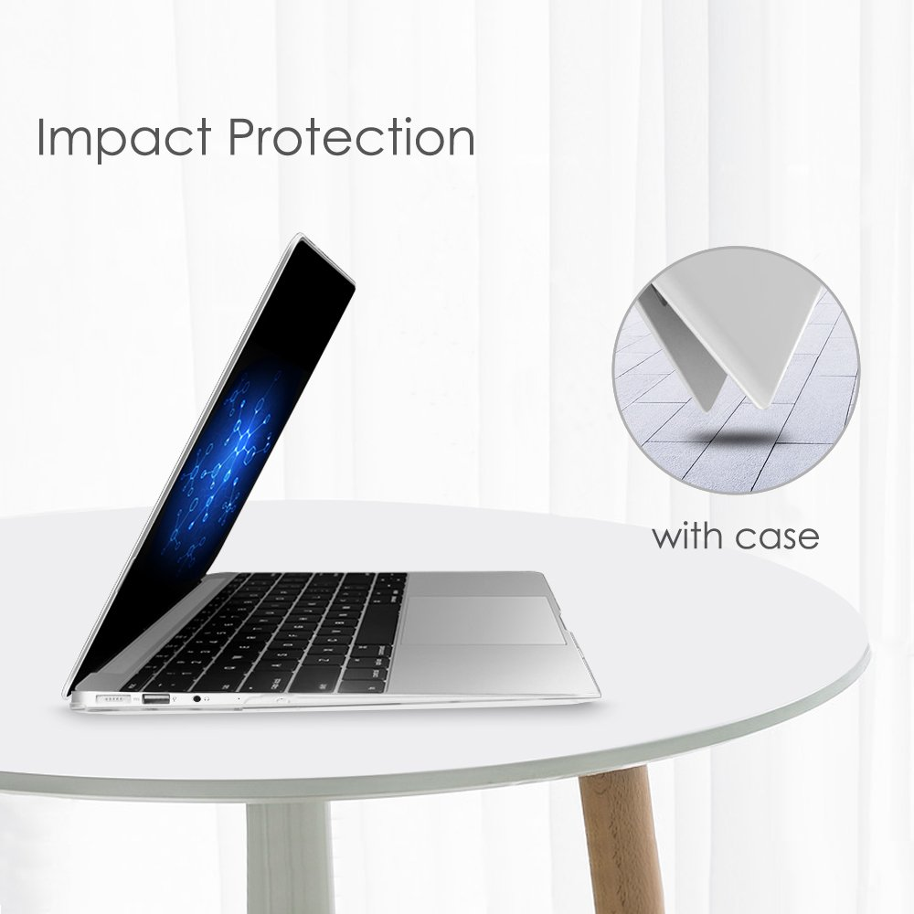 Fintie MacBook Air 13 Inch Case - Slim Snap On Hard Shell Protective Cover for MacBook Air 13.3'' (A1466 / A1369), Crystal Clear by Fintie (Image #6)
