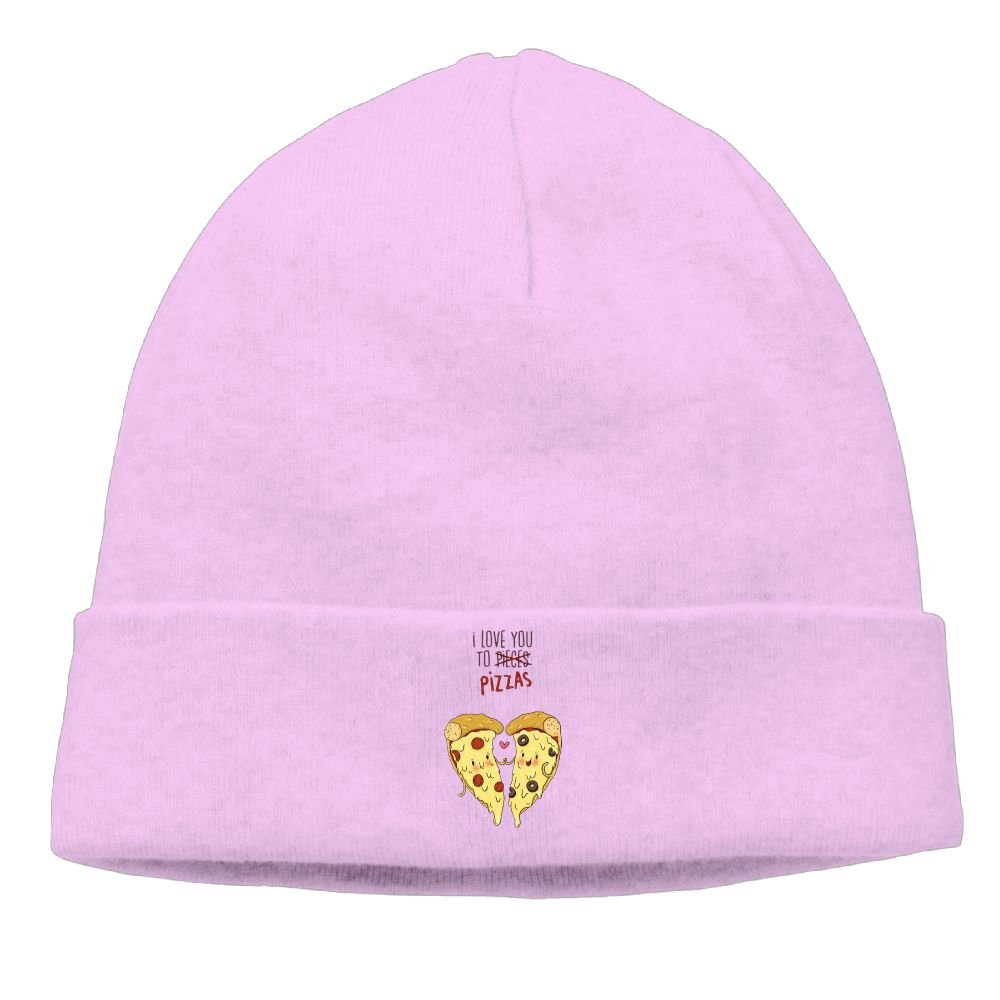 e7541c61b0a98 New I Love You to Pizza Unisex Skull Cap Beanie Hat Will Your Head at  Amazon Men s Clothing store