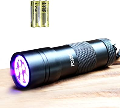 Blacklight Master Uv Black Light Flashlight Aluminum Led 3 Aaa Pack of 12