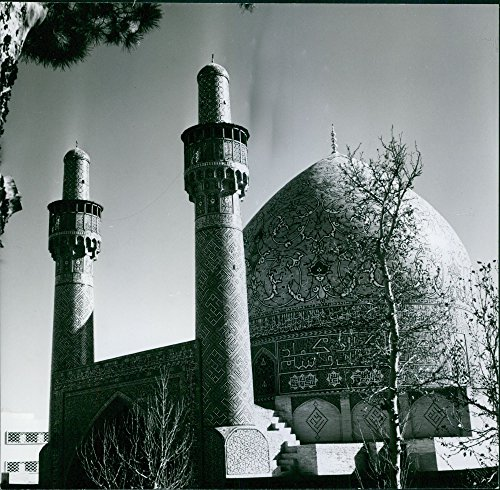 - Vintage photo of The Sultan Ahmed Mosque in Iran.