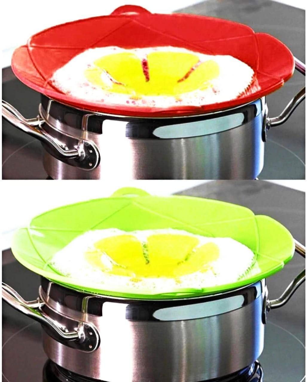 Silicone Boil Over Spill Garde Grattons vapeur Pot Pan Couvercle Couvercle empêche mess