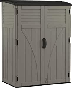 Vertical Shed 54 cu. ft. Vertical Resin Storage Shed for Backyard and Patio, Stoney Gray