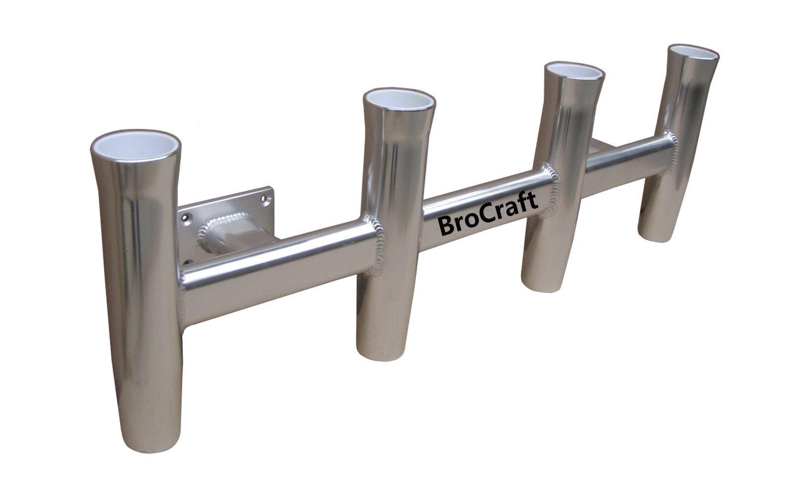 BroCraft Aluminum Wall Mounted 4 Pole Rocket Launcher / Boat Rod Holders / Boat Rocket Launcher by Brocraft