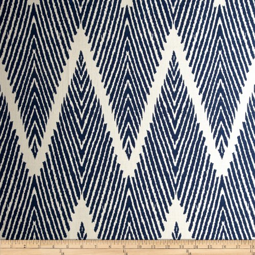Lacefield Bali Chevron Navy Chalk Fabric By The Yard (The Chevron Fabric By Yard Upholstery)