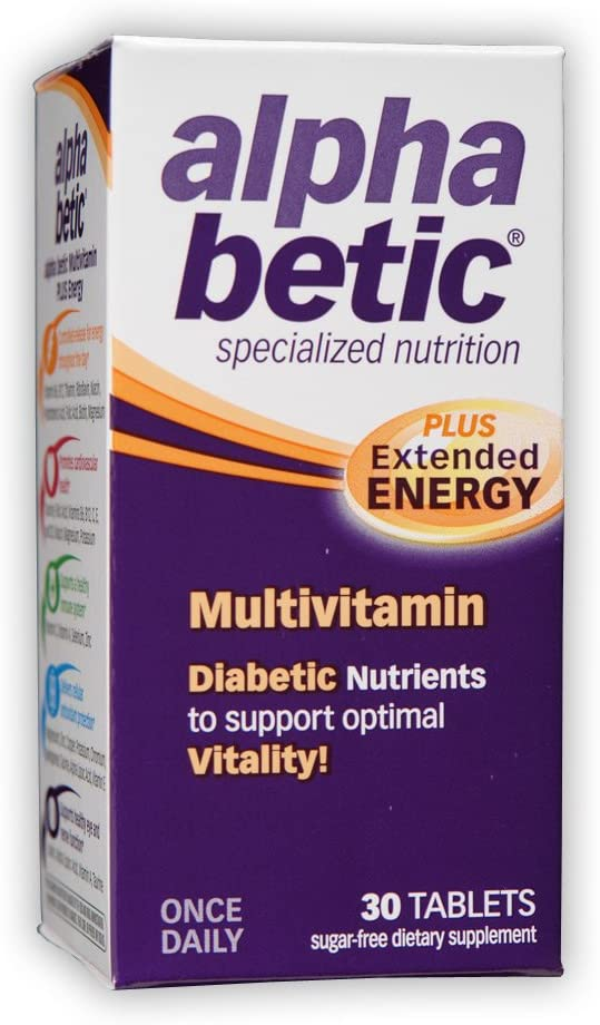 alpha betic Once-Daily Multi-Vitamin Supplement, 30 Tablets Pack of 2