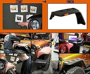 Rugged Ridge 11640.10 Hurricane Flat Fender Flare Kit for 2007-2018 Jeep Wrangler JK Models