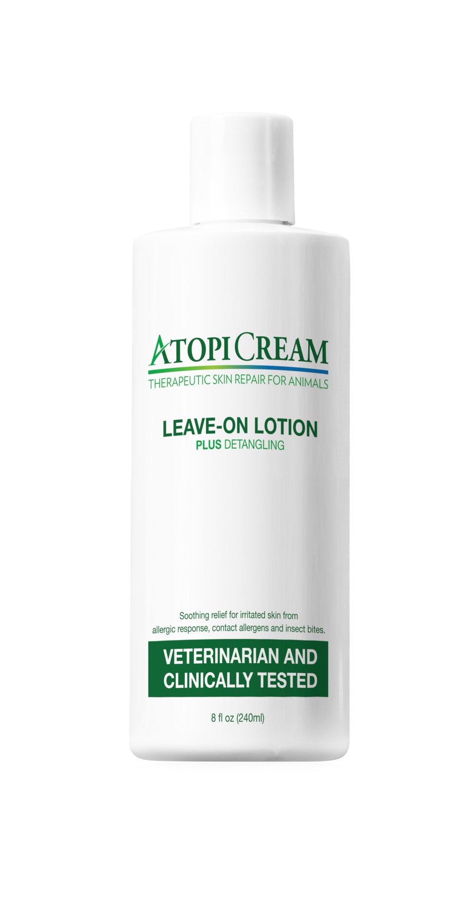 AtopiCream Leave-On Lotion for Pets - Relief of Itching, Skin Irritation and Rashes due to Allergic Response Plus Detangles 8oz by VetriMAX (Image #1)