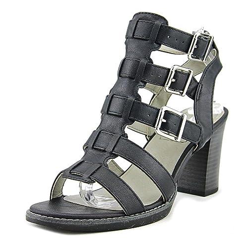 Weiß Mountain Damenschuhe Gemmy Leder Strappy Open Toe Casual Strappy Leder Sandales af5790