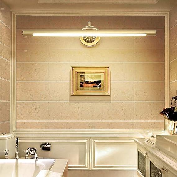 Badzimmer Spiegel,Schwarz,44cm 8W Wandlampe Retro Spiegel Schminklicht PC Badlampe Schminktisch Drehung Spiegelleuchte f/ür Kosmetikspiegel AWISAWIS Schminktisch Beleuchtung Wandleuchte