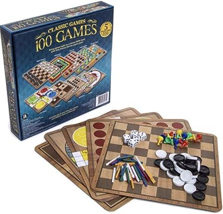 Classic Games Caja de 100 Juegos clásicos para niños, Adolescentes, Adultos y Personas Mayores: Amazon.es: Hogar
