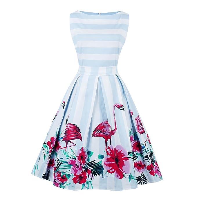 069e160211bd1 Blazar Women s Plus Size Vintage Party Dresses 1950s Rockabilly Audrey  Dress Retro Embroidered Lace Cocktail Dress S-4XL  Amazon.co.uk  Clothing