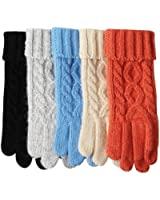 ELMA Women's Touchscreen Wool Knit Gloves