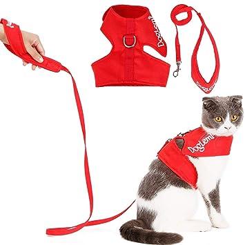 Amazon.com: Arnés para gatos con correa de rozkitch, seguro ...