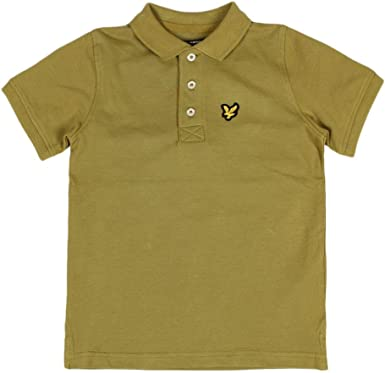 RRP £34.99 JUNIOR LYLE AND SCOTT BASIC SHORT SLEEVED POLO SHIRT BAY GREEN SA2